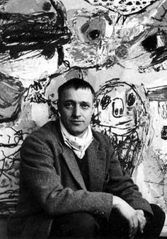 Asger Jorn, in his studio. Asger Oluf Jørgensen, was a Danish painter, sculptor, ceramic artist, and author,(born 3 March 1914 Vejrum, Jutland, Denmark ,died 1 May 1973 (aged 59) Århus, Denmark). He was a founding member of the avant-garde movement COBRA and the Situationist International.