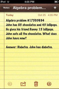 John has diabetes