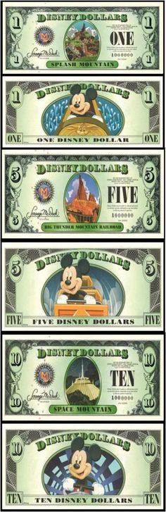 2014 Mountains Series Disney Dollars