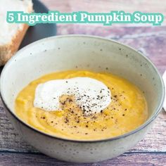 Nothing beats Pumpkin Soup and warm crusty bread for a quick and easy dinner any time throughout the year. I love using butternut pumpkins as they are extra sweet and easily available. Roasting the pumpkins and onions brings out their na. Thermomix Soup, Road Trip Snacks, Roast Pumpkin, Clean Eating Snacks, Healthy Eating, Pumpkin Recipes, The Fresh, Gourmet Recipes, Salmon