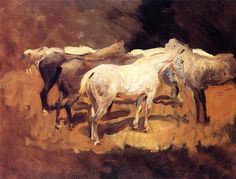 Horses at Palma - John Singer Sargent - Completion Date: 1908