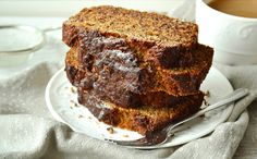 Recipe for eggnog cranberry bread pudding made with challah. Eggnog Recipe, Brunch Dishes, Piece Of Bread, Challah, Apple Butter, Banana Bread, Healthy Eating, Pudding, Tasty
