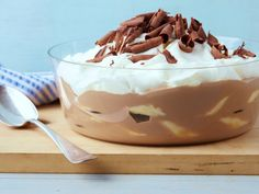 Bobby Flay's Milk Chocolate Banana Pudding combines the light quality of milk chocolate with the sweetness of bananas to bring together the best of both worlds.