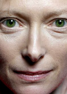 the perfect green (Tilda Swinton)  Also, more celebrity close-ups on this page...