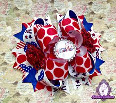 #handmade #bow #hairbow #Disneyprincess #boutique #ottbow #4thofjuly #kassiascreations