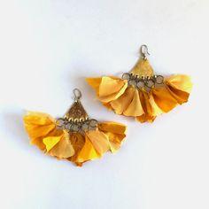 Tassel Earrings Statement Earrings Bohemian Earrings Dangle silk Earrings Bohemian Jewelry Boho Chic Fashion Ethnic earrings Summer earrings by havanaflamingo on Etsy