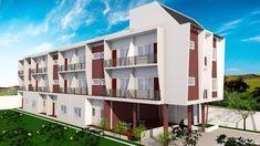 Apartment Plans with 18 Units - Sam House Plans Home Design Plans, Plan Design, Plans Architecture, Apartment Complexes, Apartment Plans, Garden Living, My Dream Home, My House, House Plans