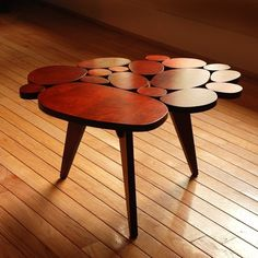 Modern wooden coffee table. Discover more: coffeeandsidetables.com | #creativecoffeetable #modercoffeetables #woodencoffeetables