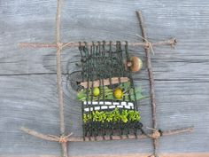 """""""Weaving the Landscape..."""" (""""OP sez: """"Stick weaving, with natural materials"""")"""