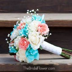 blush and tiffany blue bridal bouquet - - Yahoo Image Search Results