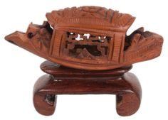 China 20. Jh. Miniatur - A Chinese Fruit Pit Carving - Statuette Chinois Cinese