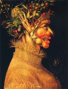 Renaissance artist Giuseppe Arcimboldo painted witty, even surreal portraits composed of fruits, vegetables, fish and trees. He died in Summer by Giuseppe Arcimboldo 1563 Kunsthistorisches Museum Vienna www. Giuseppe Arcimboldo, Italian Painters, Italian Artist, Moritz Von Schwind, Kunsthistorisches Museum Wien, Oil On Canvas, Canvas Art, Google Art Project, Renaissance Artists