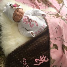 Personalized Pink Camo Baby Gift Set