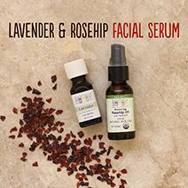 Lavender and Rosehip Oil Facial Serum  For a soothing and rejuvenating all natural serum, the combination of lavender and rosehip is incre...