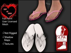 Izzy <3 Mesh - Flip Flops 1 for Slink Ladies Flat Feet
