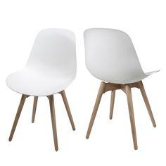 Sedia sala da pranzo Sugar (set 2) - Materiale sintetico - Bianco