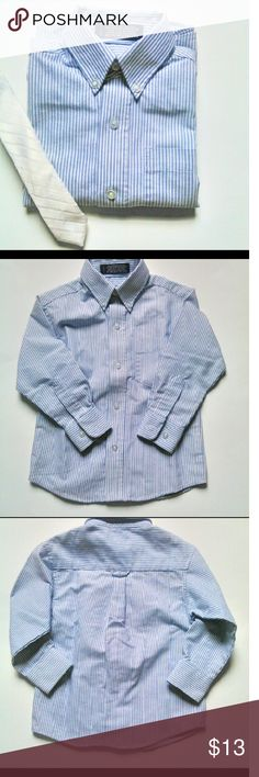 ⚓  ARROW BOYS BUTTON DOWN DRESS SHIRT SIZE 4⚓ Classic blue and white stripe dress shirt.  Look like young man and dazzle the ladies in this Arrow button down dress shirt size 4.  Ask b4 you buy! Offers welcome using the button below only.  Questions?? Just Ask. My pleasure to answer Arrow Shirts & Tops Button Down Shirts