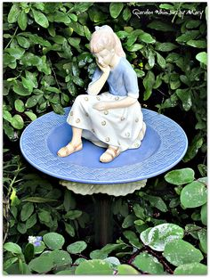 Girl in the Garden Totem Stake As by GardenWhimsiesByMary on Etsy, $43.00