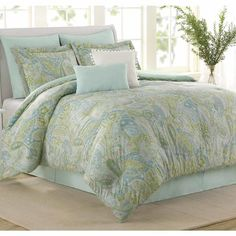 Soho New York Sea Glass 8 Piece Comforter Set