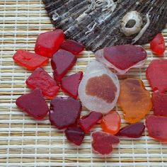 Bulk red sea glass