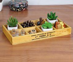 8 Grid New Fashion Multi-function Organizer Flower Pot Holder Sundries Storage Box Free Shipping