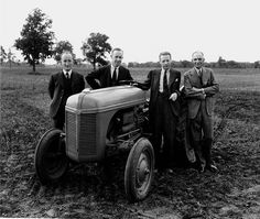 Ford 9 N Tractor: Man on Right is Henry Ford