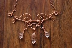 Quartz Crystal Statement Necklace by TerraArcana on Etsy