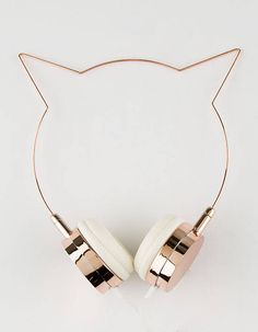 Rose Gold Cat Ear Headphones - Rose - One Size