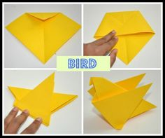"""Origami means """" folding paper"""". Origami for kids can be much more than a craft activity. Origami Frog, Kids Origami, Origami Ball, Useful Origami, Origami Animals, Easy Origami, Origami Star Paper, Origami Stars, Origami Flowers"""