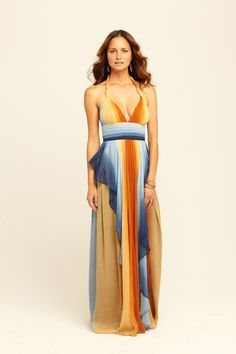 Magda Die Dye Halter Dress from Calypso St. Barth (and the back's all blue).  So striking.