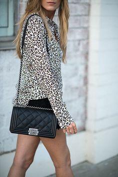 Simple and eclectic street style [ 1diamondsource.com ] #fashion #diamond #quality
