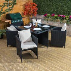 Toulon Square Poly-Rattan Garden Dining Set