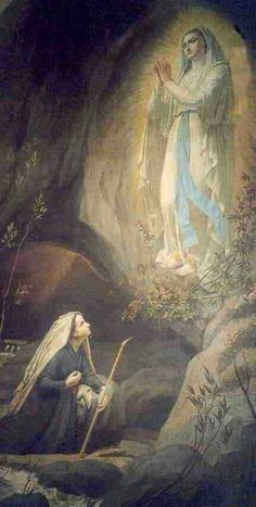 Indulgenced Prayer to Our Lady of Lourdes O Holy Mary, Mother of God, who to… Bernadette Lourdes, Santa Bernadette, St Bernadette Soubirous, Catholic Religion, Catholic Art, Religious Art, Roman Catholic, Catholic Saints, Lourdes France