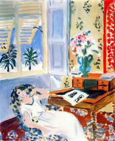 """nice-henri-matisse-la-siesta-1922: """"I don't know whether I believe in God or not. I think, really, I'm some sort of Buddhist. But the essential thing is to put oneself in a frame of mind which is close to that of prayer."""" – Henri Matisse"""