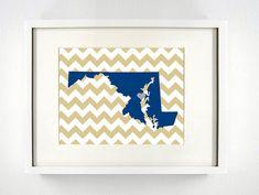 Items similar to Annapolis, Maryland State Set of Three Giclée Map Art Prints - - Graduation Gift Idea - Dorm Decor on Etsy