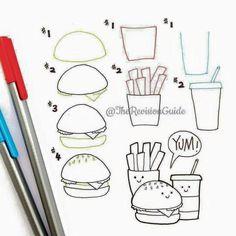 How to door cheeseburger fries and soda