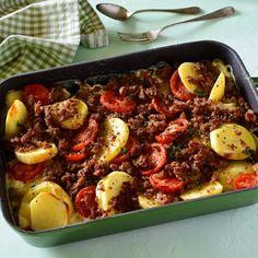Maso a brambory z jednoho pekáče » MlsnýHrnec.cz Kung Pao Chicken, Beef, Ethnic Recipes, Meat, Steak