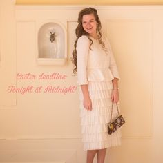 Don't miss out on getting the perfect dress for Easter! The deadline to place your order is tonight at midnight. (March 27th) Please note: this doesn't include preorders; the deadline is for in-stock items ONLY. Shop modest fashion at www.daintyjewells.com