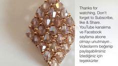 Beaded Netted Necklace Tutorial With Bicone - Kristal Kolye Yapımı