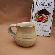 Beige With Black Striped, Pottery Mug, 8 Ounce, Espresso Coffee Cup, Handmade Wheel Turned Mug, Ceramic Cup, Hot Beverage Drinkware, by TheButlersCreations on Etsy