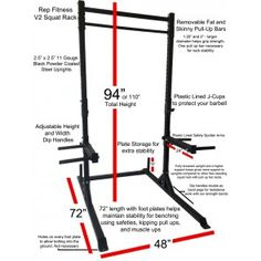 Rep Squat Rack with Pull Up Bar