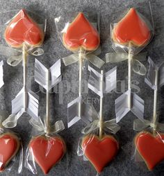 Cupid's arrows Decorated cookies for Valentine's day