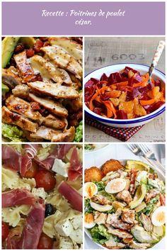 Recette : Salade de poulet, bacon, avocat à la moutarde et miel. avocado salat Recette : Poitrines de poulet césar. Avocado Salat, Pasta Salad, Bacon, Ethnic Recipes, Food, Honey, Mustard, Recipe, Lawyer