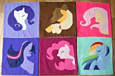 Cushion cover Fluttershy MLPFiM Handmade by NaturelandsAndCo, $25.00