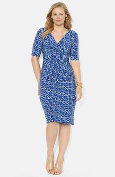 Lauren+Ralph+Lauren+Ikat+Print+Matte+Jersey+Dress+(Plus+Size)+available+at+#Nordstrom