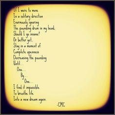 The Drum in My Head. #poetry #poem #courtneymarie #dreams #depression
