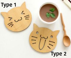 A personal favorite from my Etsy shop https://www.etsy.com/listing/593276247/wood-coasters-cat-face-zakka-handmade