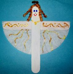 Use recycled materials to make this easy angel craft for kids! This project will barely cost a penny and the craft is so cute!