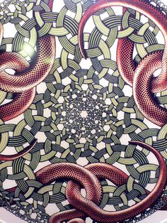 Ring Snakes, 1952, MC Escher