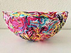 yarn ends bowl ..★ Teresa Restegui http://www.pinterest.com/teretegui/ ★..